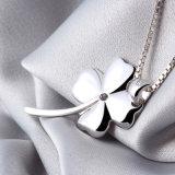 Argento sterlina 925 di alta qualità 100% 4 monili dell'indennità di aggancio delle collane & dei pendenti del fiore dei fogli per le donne