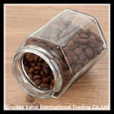 Hexagon Kruik van Glas 380/730ml/de Kruik van de Bonen van de Koffie/de Kruik van het Suikergoed