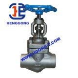 Acciaio inossidabile d'acciaio di API/DIN/JIS valvola di globo forgiata ad alta pressione del filetto dell'olio/