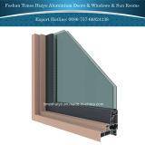 Porte en aluminium de pivot pour le patio et le balcon et le yard
