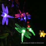 Luz decorativa psta solar da libélula ao ar livre do festival 2016