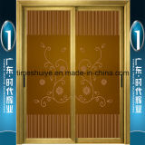Fabricante colgante de aluminio de la puerta con buena calidad y la intervención del TUV