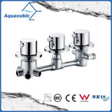 Vanne thermostatique de support de mur de salle de bains/mélangeur thermostatique de douche avec le traitement triple