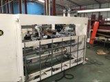 Grapadora semiautomática del rectángulo del cartón de la Doble-Pista para la cadena de producción del rectángulo del cartón