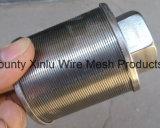 Casquillo del agua del alambre de la cuña/tubo filtrante envuelto alambre
