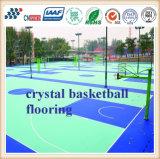 Matériau de plancher de terrain de basket de SPU de prix usine/basket-ball extérieur