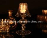 Partido de cristal de la decoración del hogar del sostenedor de Tealight de la luz de la noche del sostenedor de vela de la lámpara