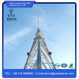 Высокомарочная башня стали рангоута ванты решетки радиосвязи 80m
