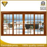 Алюминий сползая нутряную дверь с застеклять закаленный двойником для балкона
