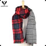 Alta calidad de acrílico Chequeado lateral doble tela escocesa de la bufanda del mantón