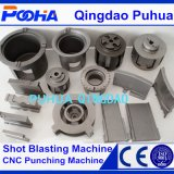 Machine de nettoyage de grenaillage de mur externe de pipe en acier de convoyeur de rouleau