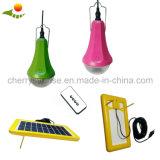 Jogo solar portátil da iluminação do diodo emissor de luz da potência solar da C.C. do jogo para Home e ao ar livre