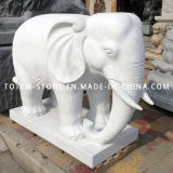 Great Garden Carvings / Escultura Stone Marble Granite Elephant for Sale