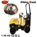 Zmyl-900 Zmyl-900c Roller 2 Ton accionamiento hidráulico de doble tambor vibración