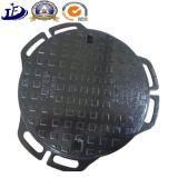 鋳物場で砂型で作るEn124マンホールカバー鋳鉄