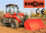Everun Brandnew Design 1 Ton Mini Vorderseite Wheel Loader mit Adjustable Pallet Forks