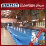 Matériau lourd de vinyle de bâche de protection de PVC de tissu enduit résistant UV de polyester