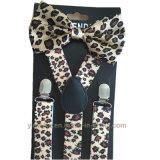 Support et jeu élastiques de Bowties estampés par léopard promotionnel chaud