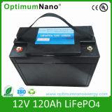 Batteria di 12V diplomata Un38.3 120ah LiFePO4 per il sistema solare
