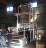 Máquina de Película Soplada de Una Capa, Marca Ruipai, Troqueladora Rotativa, Rebobinador Doble.