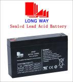 batería de plomo cargable 6V7ah para el sistema de reserva