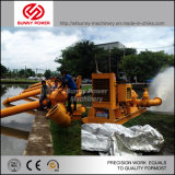 12inch de diesel Pomp van het Water voor de Lossing van het Water van het Afval met Aanhangwagen