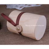 Natural Customized Wooden Two-Bottle Wine for Carrier Outdoor Picnic
