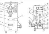 macchina di riempimento di plastica di sigillamento del sacchetto di acqua as-1000