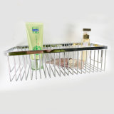 Chrom-Schicht-Edelstahl-Badezimmer-zusätzlicher einzelner Eckdusche-Draht-Korb