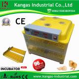 Oeufs automatiques de l'incubateur 96 d'oeufs de modèle d'utilisation neuve de ferme petits à vendre (KP-96)