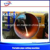 Flamme de commande numérique par ordinateur de Portable/machine découpage extérieures de plasma pour la pipe de grand diamètre