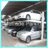 Garage mécanique simple de système de stationnement de voiture de poste du matériel deux de poussoir de voiture d'étage de la portance 2 de voiture d'automobiles automatiques de garage de voiture