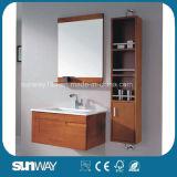 Module neuf de vanité de salle de bains en bois solide de vente chaude avec le miroir
