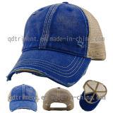 Chapeau de camionneur de base-ball de maille de sergé de coton lavé par singe sale (TM0858-1)