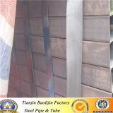 Conduttura rotonda quadrata rettangolare dell'acciaio dolce del metallo saldato del carbonio