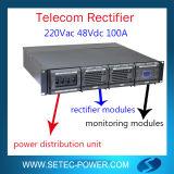 sistema Telecom do retificador 48V com porta de comunicação do SNMP