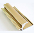 Color dorato Aluminium Profile per Windows e Door Powder Coating, Thermal Break, Anodizing, Silver Polishing, Golden Polishing