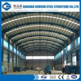 Пакгауз здания стальной структуры нестандартной конструкции Китая полуфабрикат светлый