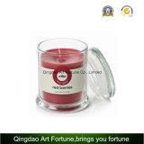 Gefüllte Glasmetro-Glas-Kerze mit Glaskappe