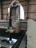 Cortadora plateada de metal del plasma del CNC y máquina del laser