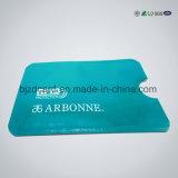 IDENTIFICATION RF de papier d'aluminium bloquant la chemise protectrice par la carte de crédit