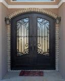 ガラスが付いている優雅な鉄のドア
