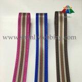 Bestes verkaufen38mm gestreiftes Polyester-Nylonjacquardwebstuhl-gewebtes Material