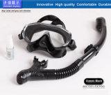 Masque adulte de piqué de masque de plongée de noir de silicone de bas volume de Chine (MK-101)