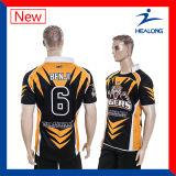 Healong Hotsaleのデジタルによって昇華させるラグビーのチームワイシャツ