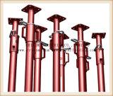 塗るか、または電流を通された足場鋼鉄支柱の調節可能な支注の支柱