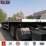 40 voet 3 de Container die van de As Flatbed Aanhangwagens laden