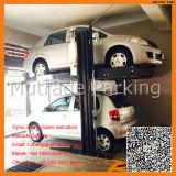 O nível 2 colunas do borne dois do assoalho 2 de 2 camadas dois 2 carros hidráulicos do dobro dos automóveis dos pés dois que estacionam o estacionamento do tirante levanta o equipamento frente e verso do estacionamento