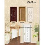 Hecho en precio de madera de las puertas de la sola de la hoja de China madera del PVC