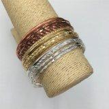 Braccialetto del metallo di modo con il braccialetto di pietra di vetro dei monili